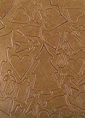 Full Frame of Unbaked Gingerbread