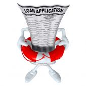 Loan Application In Life Preserver