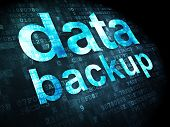 Data concept: Data Backup on digital background
