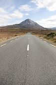 Tarmac Road To The Errigal Mountains