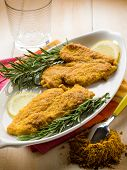 escalope with curry spice