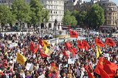 Turkish and Kurdish protesters march in Central London