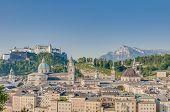 Salzburg General View From Capuchin Monastery (kapuzinerkloster)