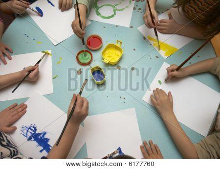 Постер, плакат: Дети живопись, холст на подрамнике