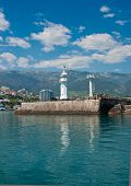 Lighthouse In Yalta, Crimea.