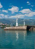 Lighthouse In Yalta, Crimea.