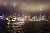 HONG KONG - MAY 24: Victoria harbor on May 24, 2012 in Hong Kong, China. The Central area on the isl