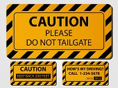 Caution Truck Signs. (EPS vector version also available in portfolio)
