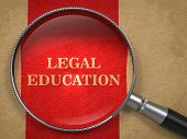 Legal Education Concept - Magnifying Glass.