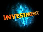 Investment Concept on Digital Background.