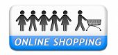 online shopping order in internet store or web shop buying online ecommerce webshop button icon or s