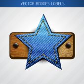 vector jeans and leather star label design