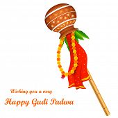 image of navratri  - illustration of Gudi Padwa  - JPG