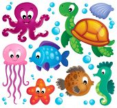 Various marine animals set 1 - eps10 vector illustration.