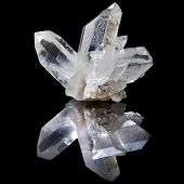 stock photo of quartz  - Lovely terminated white Quartz - JPG