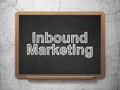 Finance concept: Inbound Marketing on chalkboard background