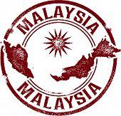 Vintage Malaysia Travel Stamp