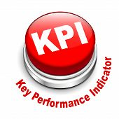 3D Illustration Of Kpi ( Key Performance Indicator ) Button
