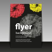 Flyer or Cover Design with Abstract Flower Pattern