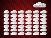 Timetable Background Design With Cloud Shapes