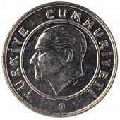 25 Turkish Kurus Coin, 2011, Face