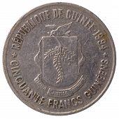 50 Guinean Franc Coin, 1994, Face