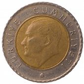 50 Turkish Kurus Coin, 2009, Face