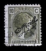 Old Luxembourg postage stamp