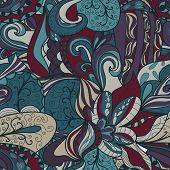 Seamless Dark Abstract Hand-drawn Texture