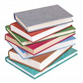 Books Heap Lying Isolated