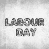 Labour Day concept with stylish text on grungy grey background, can be use as flyer, poster or banne