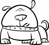 cute dog cartoon coloring page