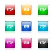 stop web icons set
