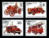 Antique Fire Trucks Prevention Stamps