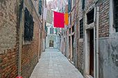 Narrow Backstreet In Venice