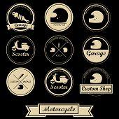 Vintage Motorcycle Label Design