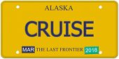 Cruise Alaska License Plate