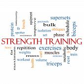 Strength Training Word Cloud Concept