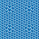Seamless Square Escher Pattern Background