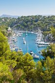 Calanque Of Port Miou In Cassis