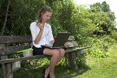 Businesswoman In The Park