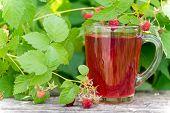 Berries Compote And Fresh Raspberries