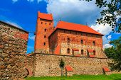 Old castle on an island in Trakai, Lithuania.