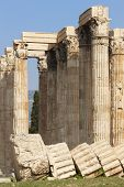 Temple Of Zeus In Athens. Corinthian Order. Greece