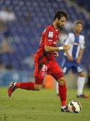 BARCELONA - AUG, 30: Nico Pareja of Sevilla FC during spanish league match against Espanyol at the E