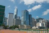 HONG KONG -SEPTEMBER 8 2013: Central is the central business district Hong Kong, Many modern buildin