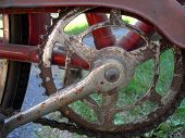 Old bicycle chain and gear