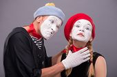 stock photo of mime  - Close - JPG