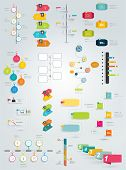 Big collection of timeline template. Vector infographic.