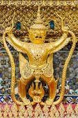 pic of garuda  - Golden Garuda at Grand Palace Bangkok Thailand - JPG